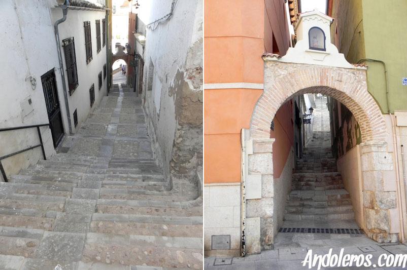 Escaleras y Arco de Santa Bárbara