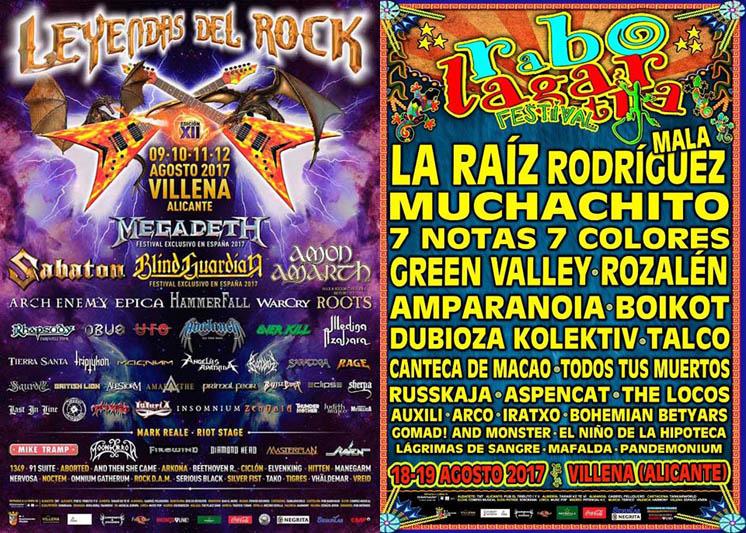 Festivales de rock Villena 2017