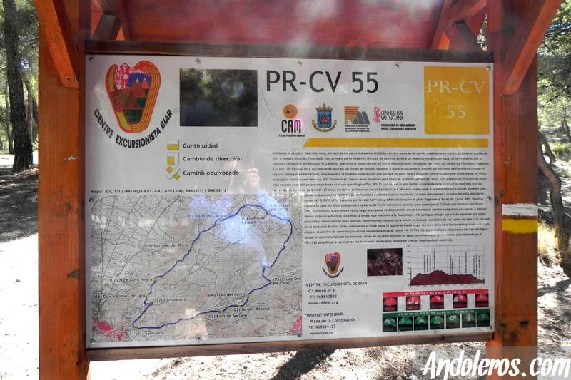 PR-CV 55 Inicio de la ruta, tras el Santuario de Biar