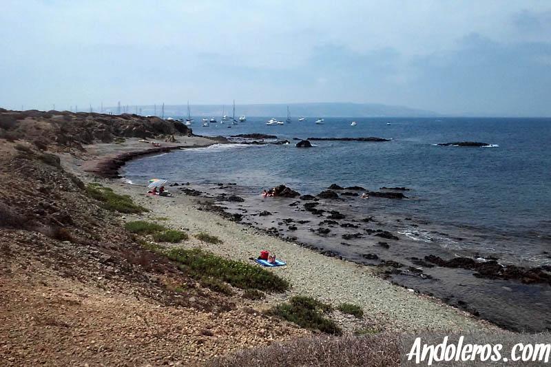 Cala en la zona norte de la isla de Tabarca