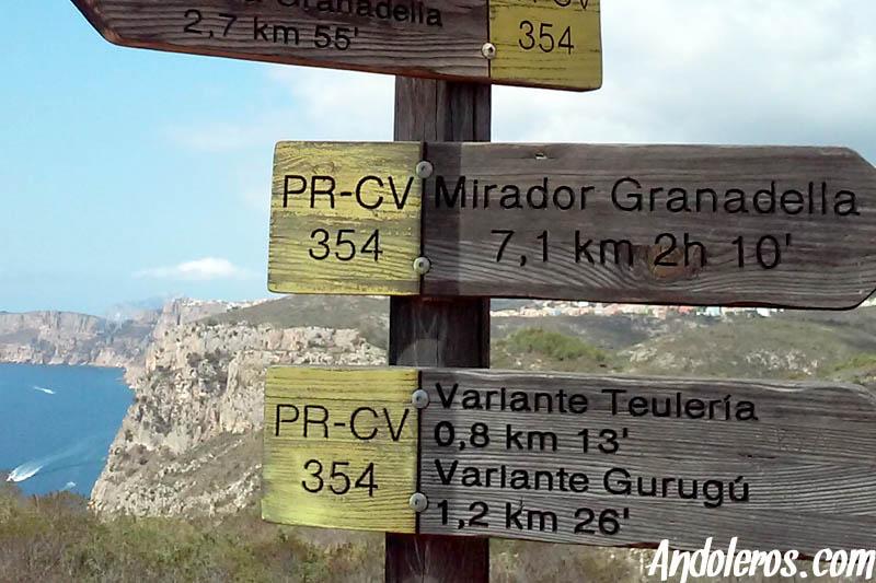 Variantes del sendero PR-CV 354